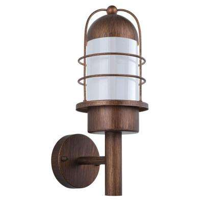 Minorca 1-Light Copper Outdoor Wall Lamp