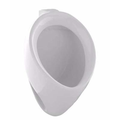 Commercial ADA Compliant Round 0.5 GPF Washout Urinal with Top Spud in Cotton White