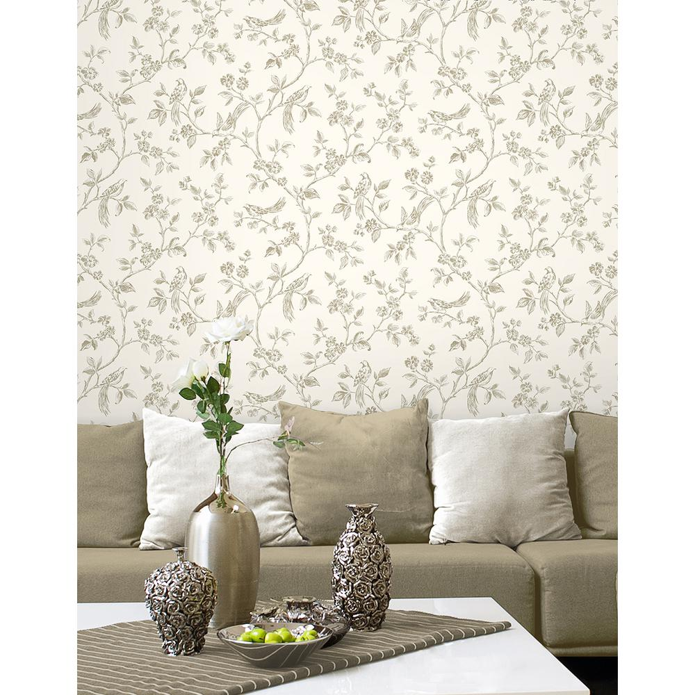 56 4 Sq Ft Jeanie Taupe Tree Wallpaper 2900 40290 The
