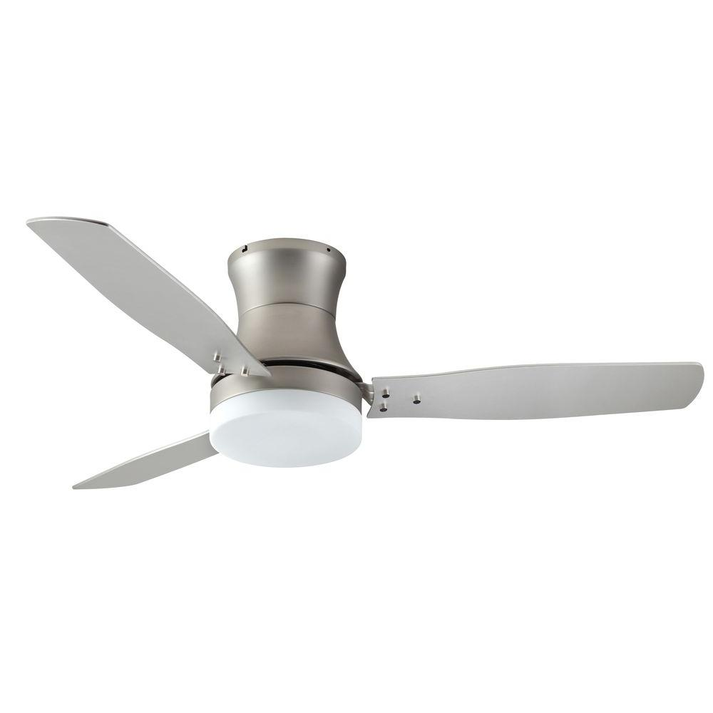 new style ceiling fans home office satin steel ceiling fan and light troposair modernaire 52 in light88454