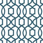 Navy Grand Trellis Vinyl Strippable Wallpaper (Covers 30.75 sq. ft.)