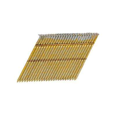 3-1/2 in. x 0.131-gauge 2M Galvanized Stick Collated Framing Nails 2000 per Box