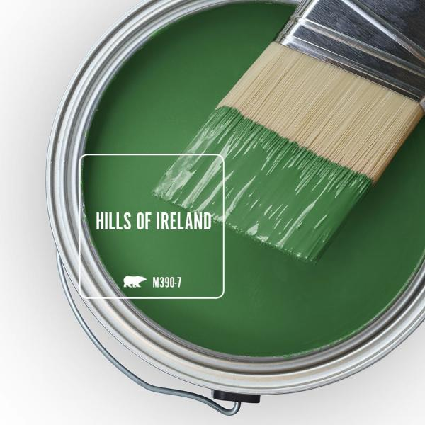 Reviews For Behr Ultra 5 Gal M390 7 Hills Of Ireland Flat Exterior Paint And Primer In One 485305 The Home Depot