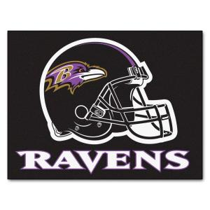 766d24291e7 FANMATS NFL - Baltimore Ravens Black and Purple Nylon 18 in. x 18 in ...