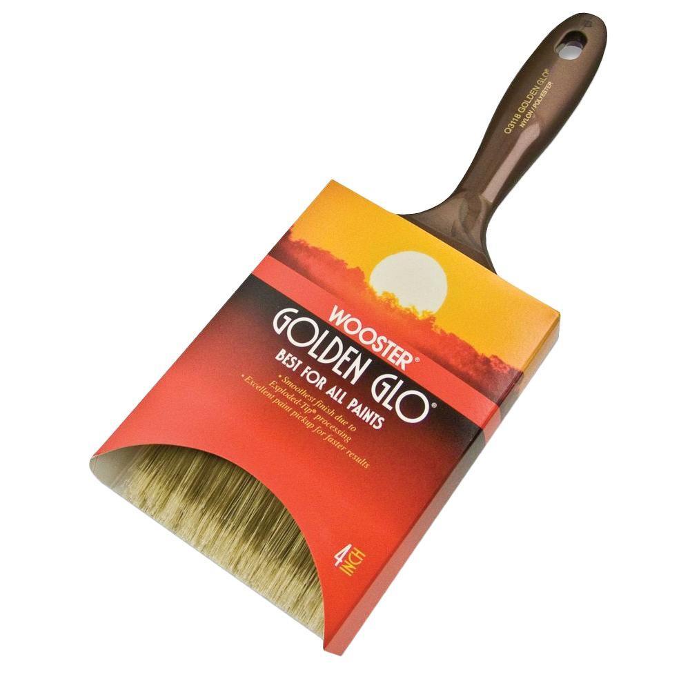 4 in. Golden Glo Nylon/Polyester Flat Brush