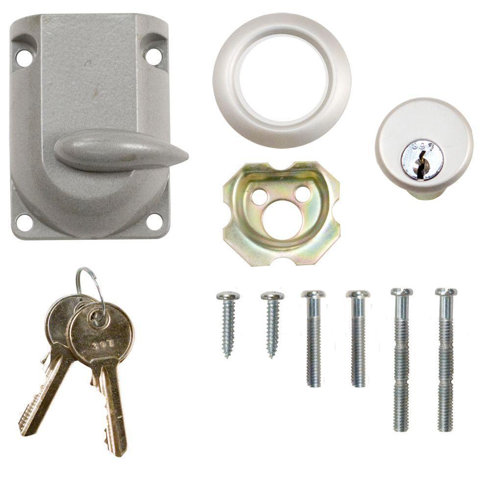 Garage Door Dead-Bolt Lock with Cylinder
