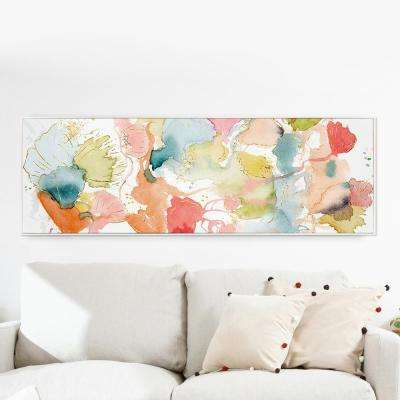 "60 in. x 20 in. ""My Wild Garden"" By Wynwood Studio Framed Canvas Wall Art"