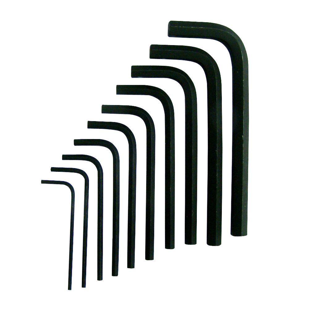 Husky SAE Short Arm Hex Key Set (10-Piece)