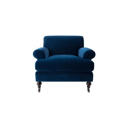 Clarence Navy Blue Lawson Chair
