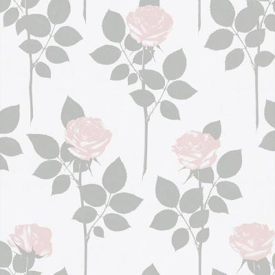 Lundgren Off-White Rose Wallpaper