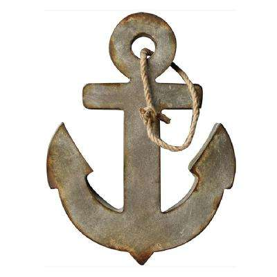 24 in. H x 18.5 in. W Metal Anchor Wall Art