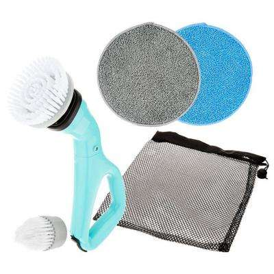 Multi-Purpose Compact Power Scrub Brush in Teal