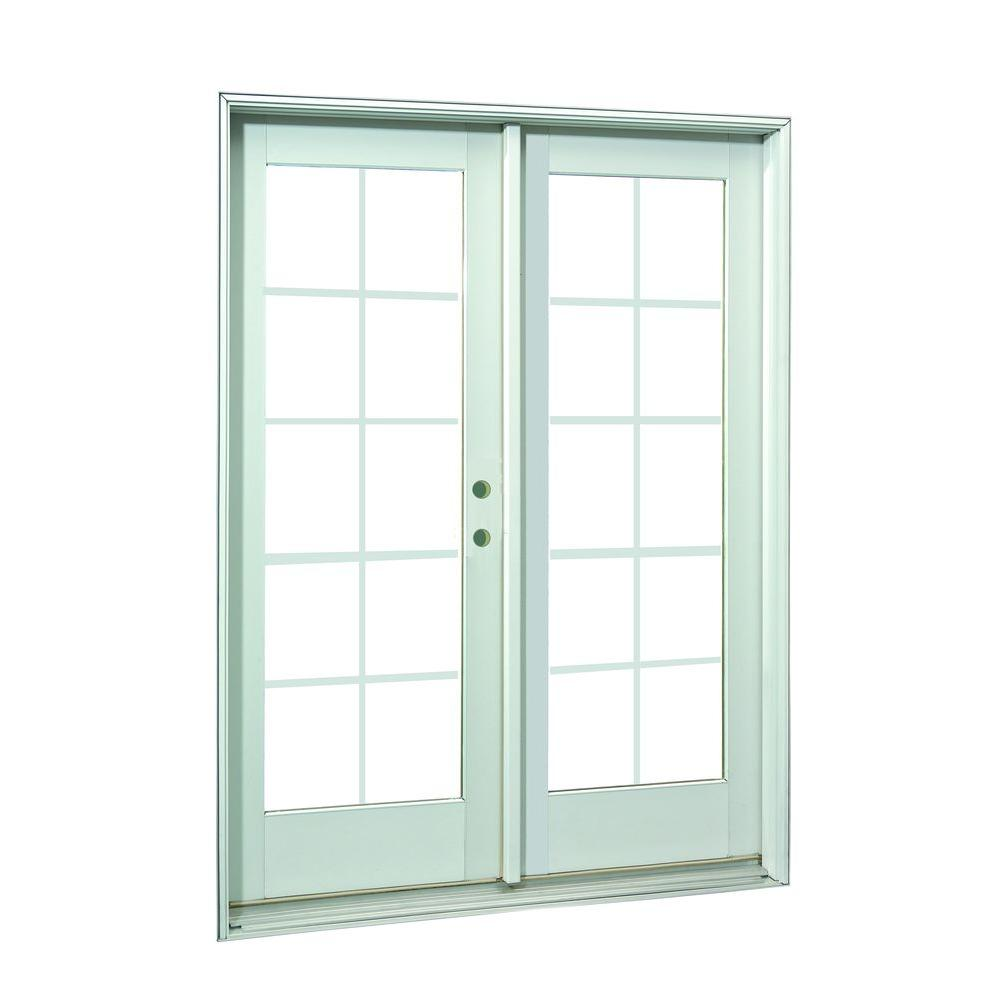 Ashworth 60 in x 80 in white 10 lite prehung left hand for 60 x 80 exterior french doors