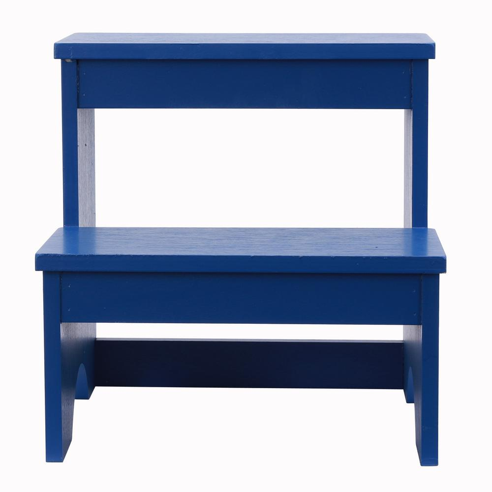 Decor Therapy Step Up Blue Step Stool Bench Fr9464 The