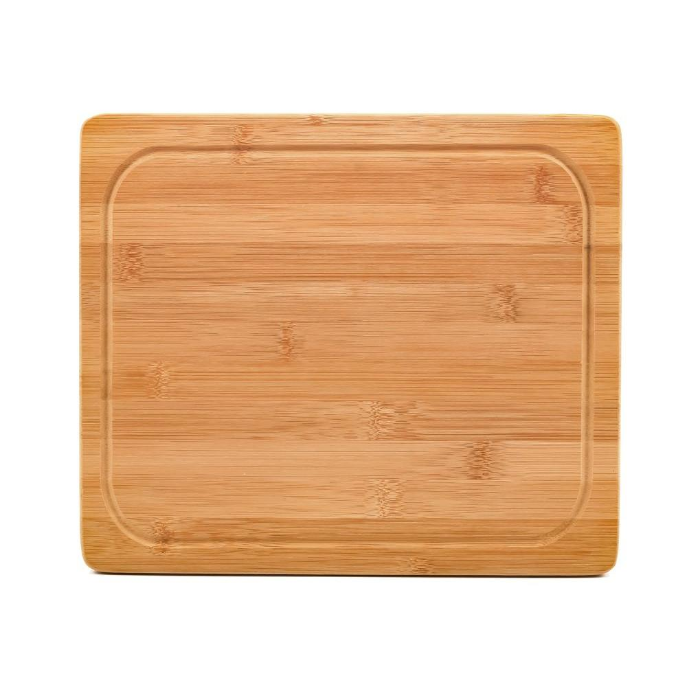 11-13/16 in. x 10 in. x 13/16 in. Bamboo Cutting Board
