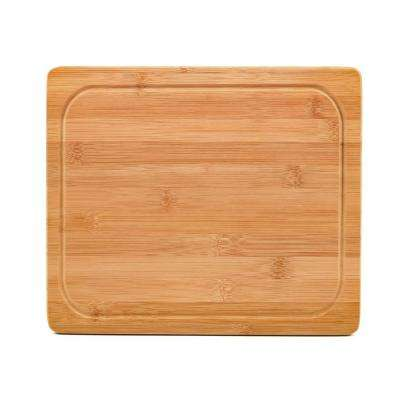 11-13/16 in. x 10 in. x 13/16 in. Bamboo Cutting Board with Juice Groove and Feet