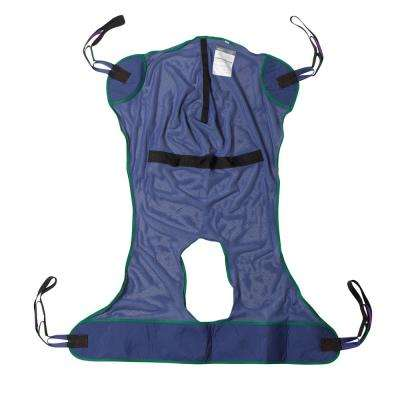 Large Full Body Patient Lift Sling and Mesh with Commode Cutout