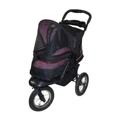 30 in. L x 13 in. W x 22 in. H NV Pet Stroller in Rose