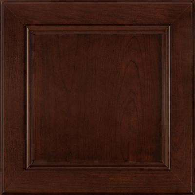 14-9/16 x 14-1/2 in. Cabinet Door Sample in MacArthur Cherry Bordeaux