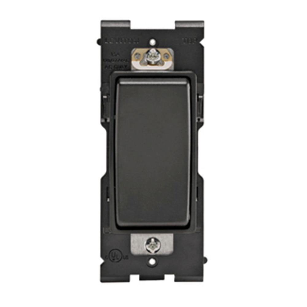 Leviton Renu 15-Amp Single Pole Rocker Switch - Onyx Black-DISCONTINUED