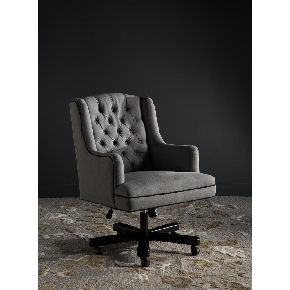 Nichols Granite and BlackLinen Office Chair