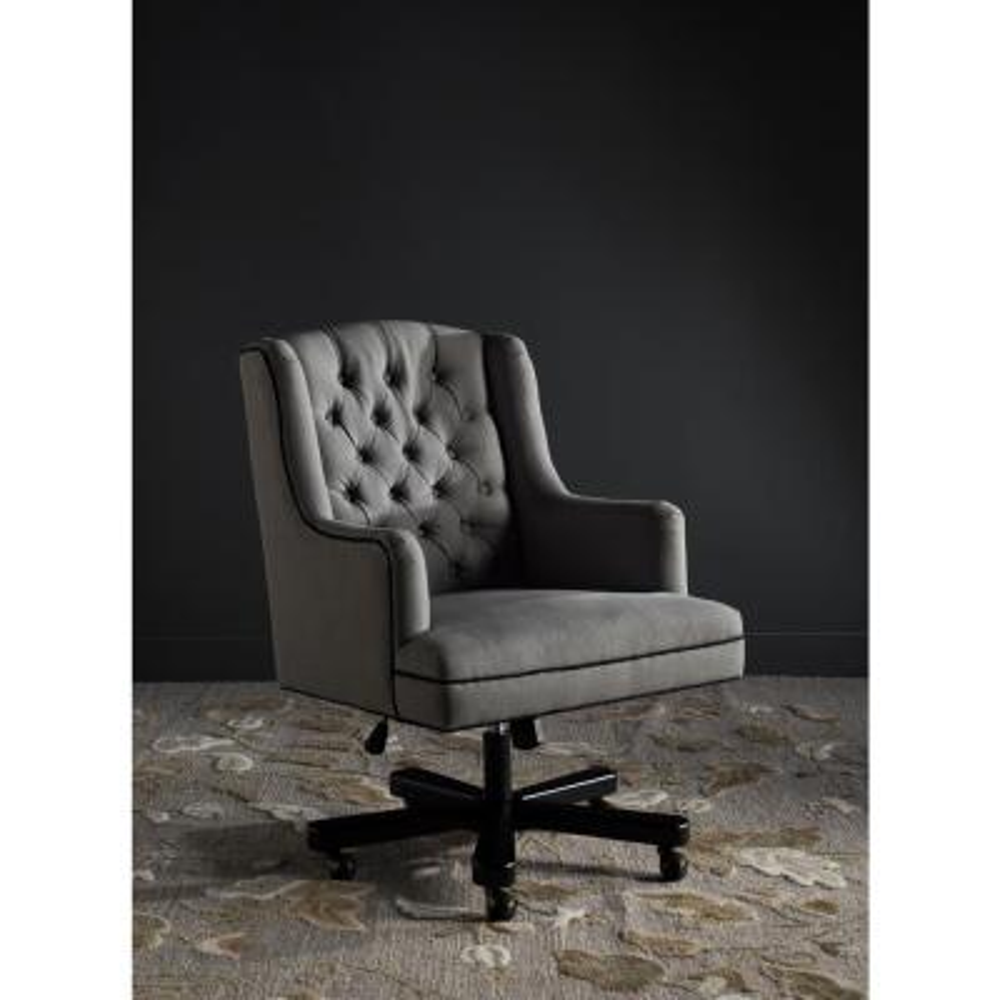 Nichols Granite and BlackLinen Office Chair