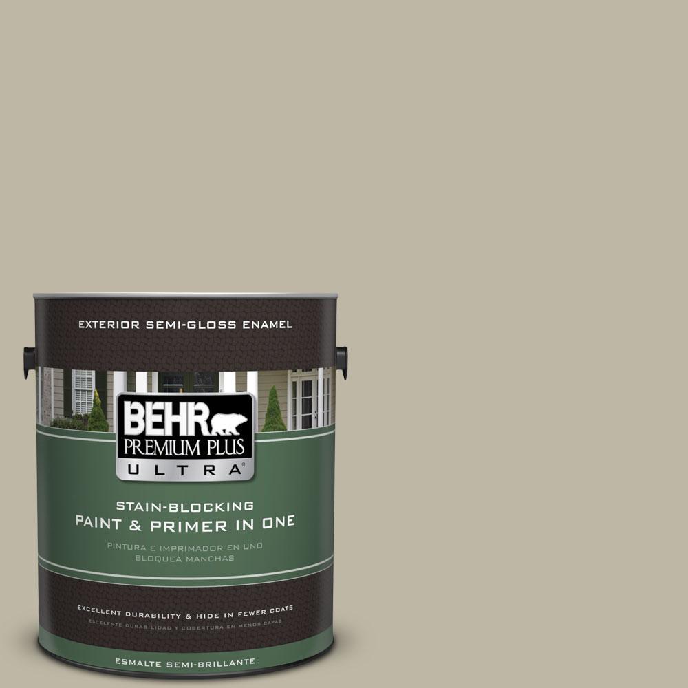 BEHR Premium Plus Ultra 1-gal. #780D-4 Koala Bear Semi-Gloss Enamel Exterior Paint