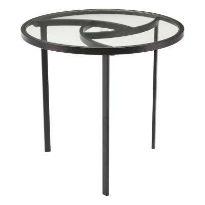 Asterisk Black End Table