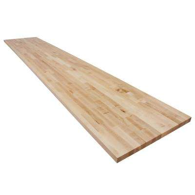 12 ft. L x 2 ft. 1 in. D x 1.5 in. T Butcher Block Countertop in Finished Maple