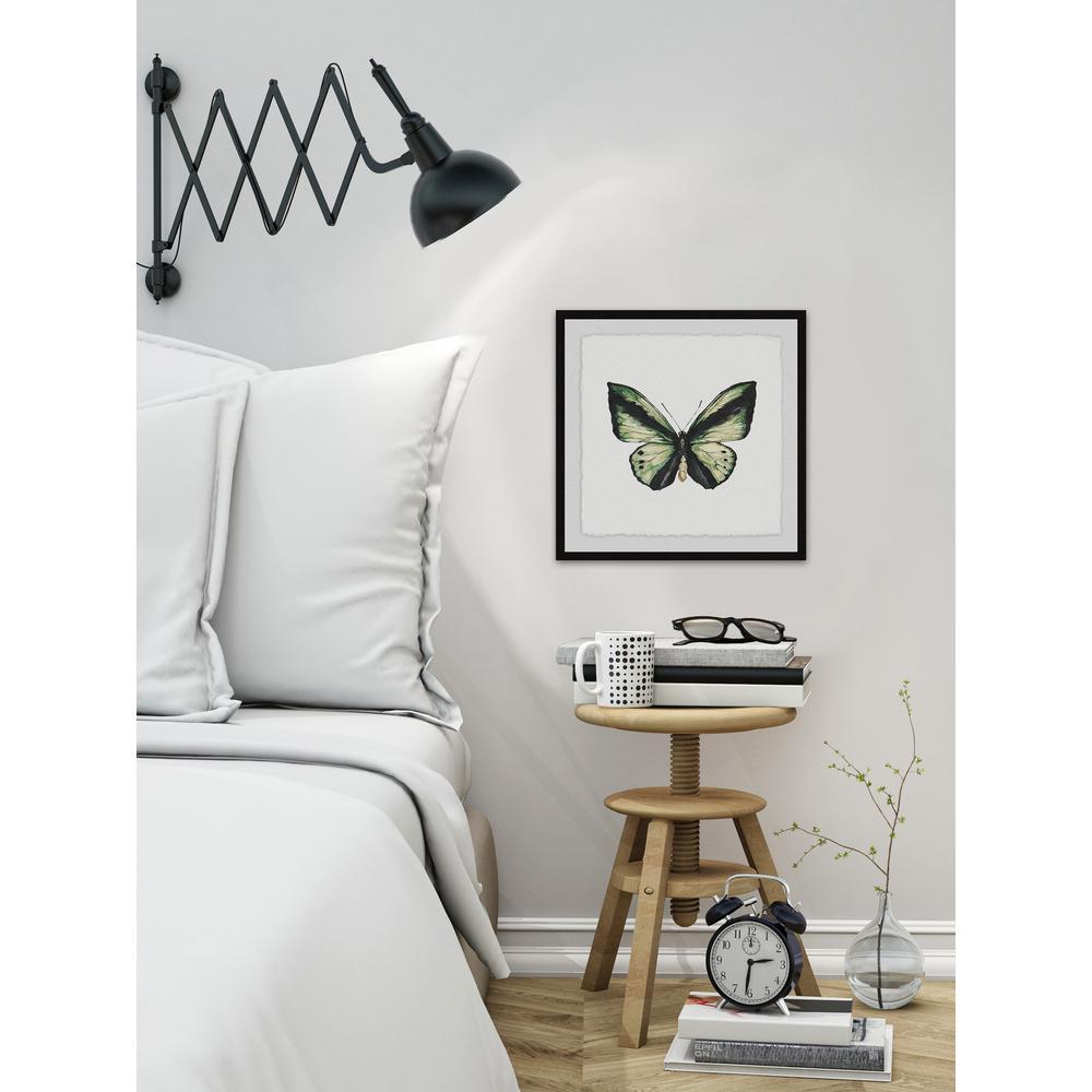 24 in. H x 24 in. W ''Deep Green Wings'' by