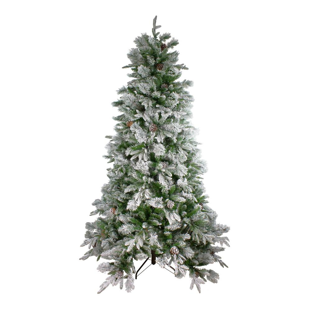 Northlight 7.5 ft. Unlit Flocked Mixed Colorado Pine ...
