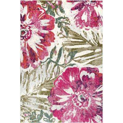 Maria Floral Pink 2 ft. 8 in. x 8 ft. Runner Rug