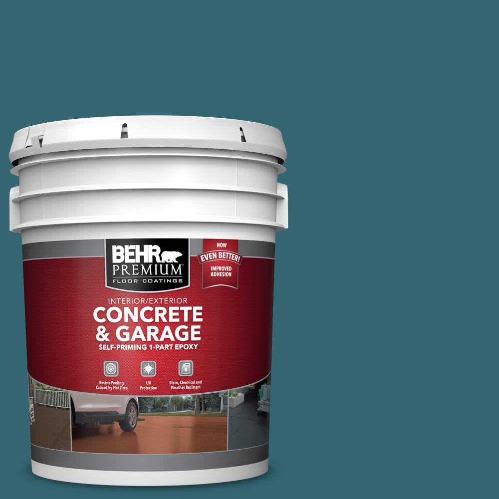 5 gal. #PFC-50 Mon Stylo Self-Priming 1-Part Epoxy Satin Interior/Exterior Concrete and Garage Floor Paint