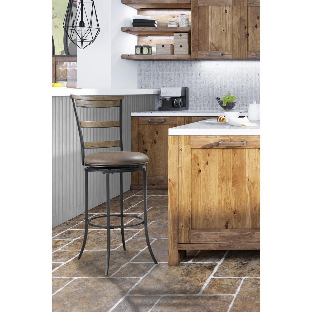 Hillsdale Furniture Charleston 30 In Desert Tan Swivel Cushioned Bar Stool 4670 832 The Home