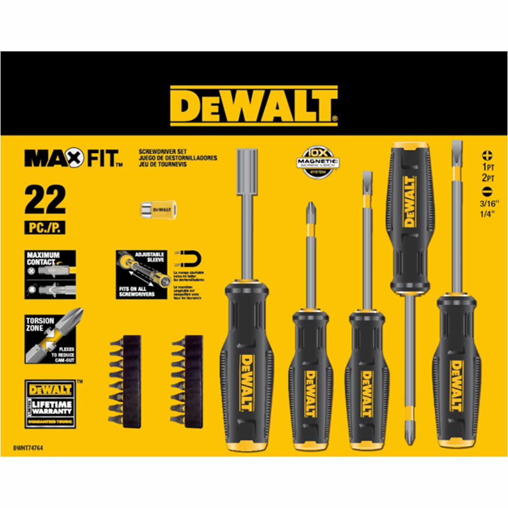 DEWALT MAXFIT Screwdriver Set (22-Piece)