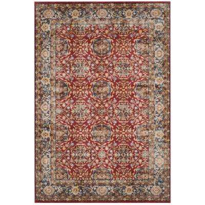 Bijar Red/Royal 7 ft. x 9 ft. Area Rug