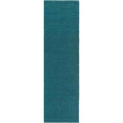 Hawaii Jane Teal 2 ft. x 12 ft. Indoor Runner Rug