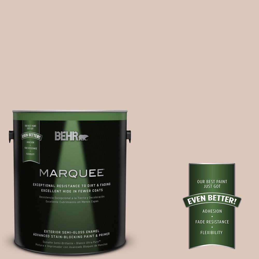 1 gal. #MQ3-38 Suede Beige Semi-Gloss Enamel Exterior Paint