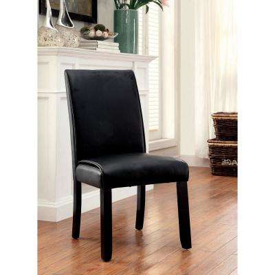 Gladstone I Black Contemporary Style Side Chair (2-Pack)