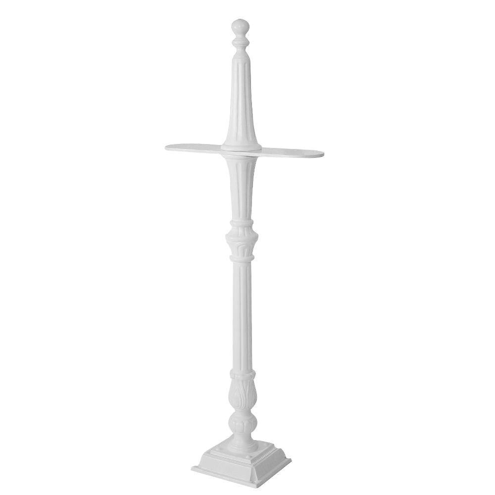 Classic 2-Sided Mailbox Post in White