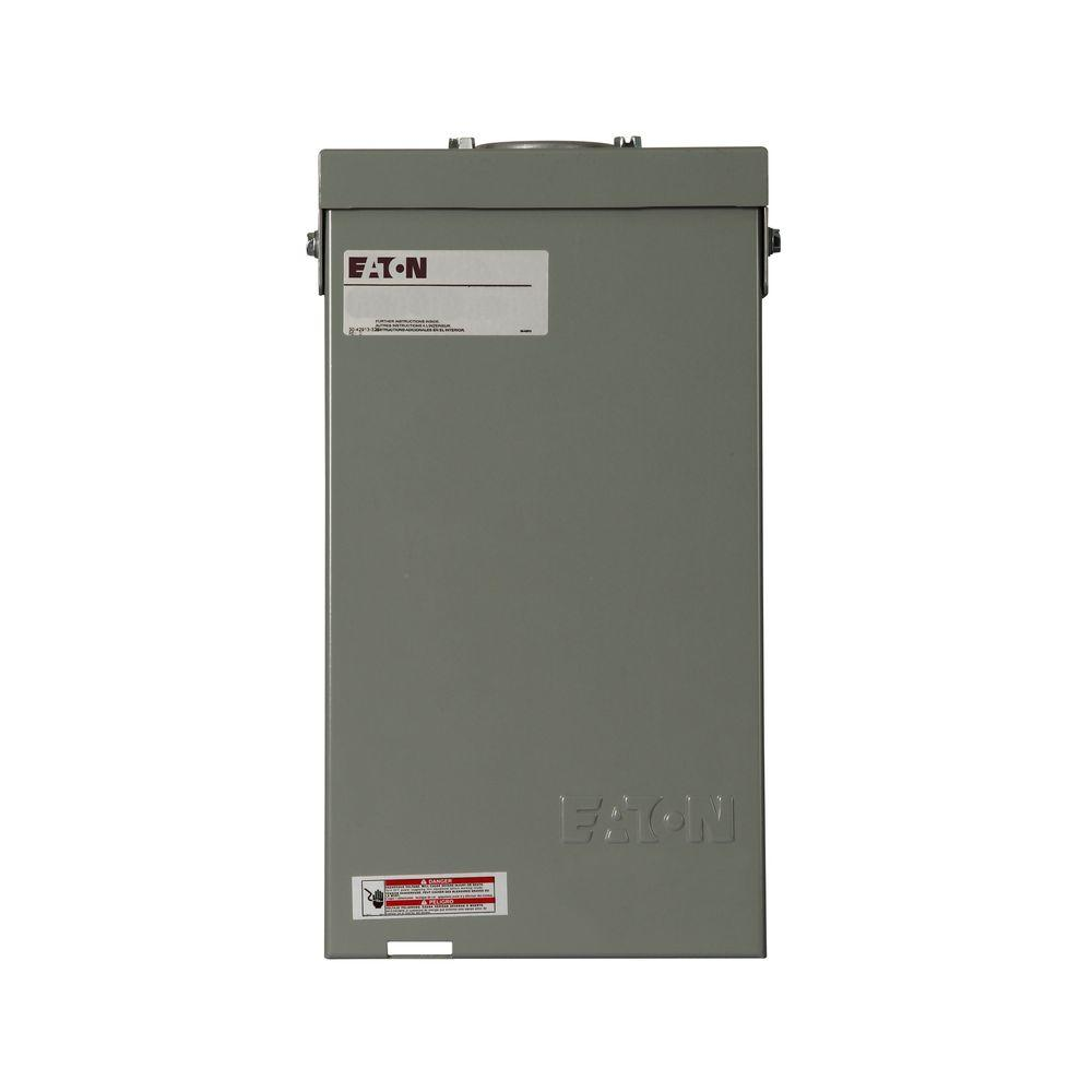 Eaton CH 40 Amp 4-Circuit Outdoor Spa Panel with Self Test Ground Fault  Circuit