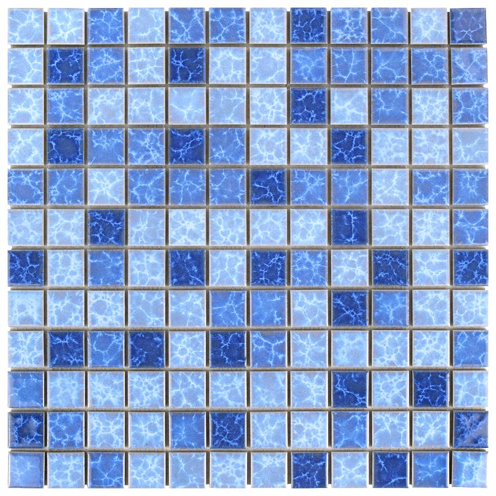 Merola Tile Watersplash Square Aegean 11-3/4 in. x 11-3/4 in. x 6 mm ...