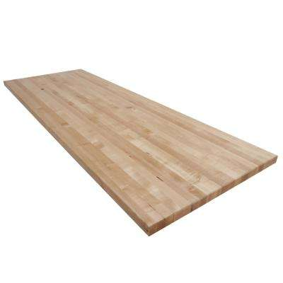 7 ft. L x 2 ft. 6 in. D x 1.75 in. T Butcher Block Countertop in Finished Maple
