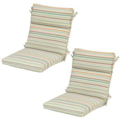 Rigby Stripe Outdoor Dining Chair Cushion (2-Pack)