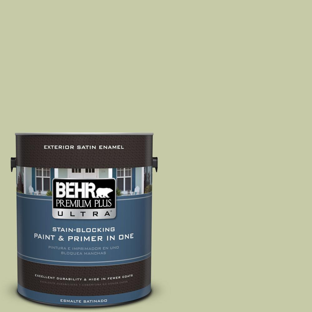 BEHR Premium Plus Ultra 1-gal. #M350-3 Sap Green Satin Enamel Exterior Paint