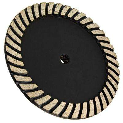 7 in. x 5/8 in.-11 Thread Coarse Grit Turbo Diamond Grinding Wheel for Stone Grinding