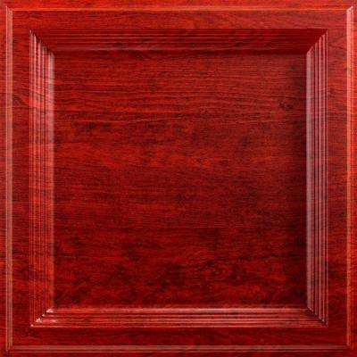 Classic Coffer 2 ft. x 2 ft. Lay-in Ceiling Tile in Cherry