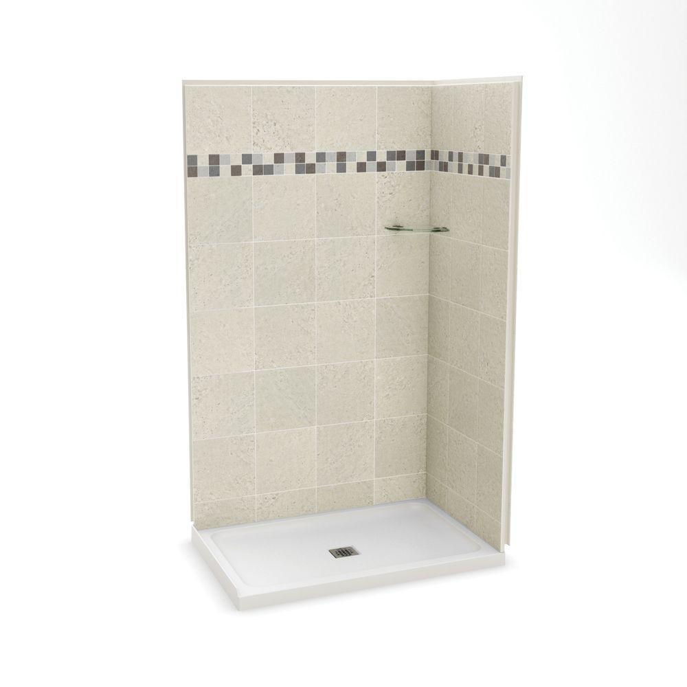 MAAX Utile Stone 32 in. x 48 in. x 83.5 in. Corner Shower Stall in ...