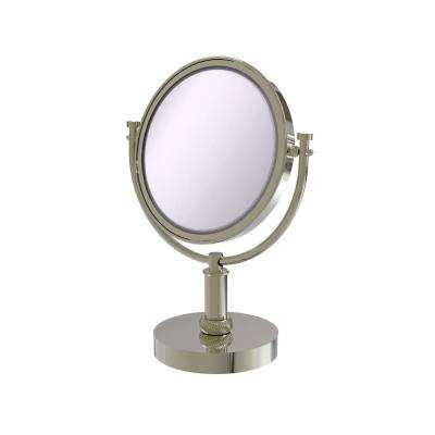 8 in. Vanity Top Make-Up Mirror 3X Magnification in Polished Nickel
