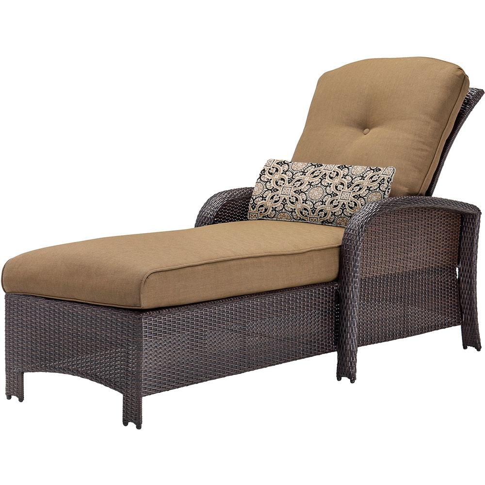 cambridge corolla wicker outdoor chaise lounge with tan cushions corchs tan the home depot. Black Bedroom Furniture Sets. Home Design Ideas